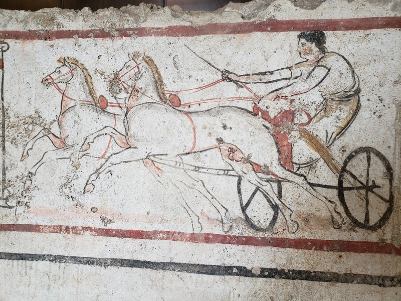 Two-Horse Chariot - Andriuolo Tomb 53, 350-330 BC.jpg